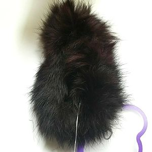 Scrunchies Ponytail Holders Faux Fur NWT